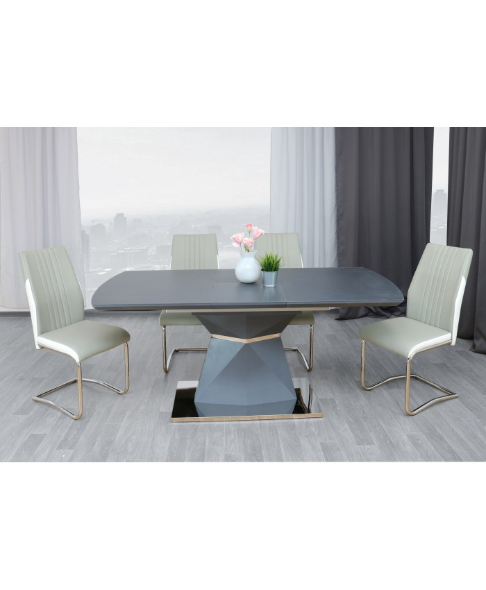 "Dining Table ""DEREK"" 140-180x80x75cm DIOMMI (32-058)"