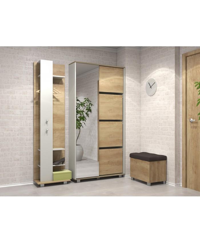 "Hallway Furniture ""DELUX 2"" 157x206x39cm DIOMMI (42-015)"