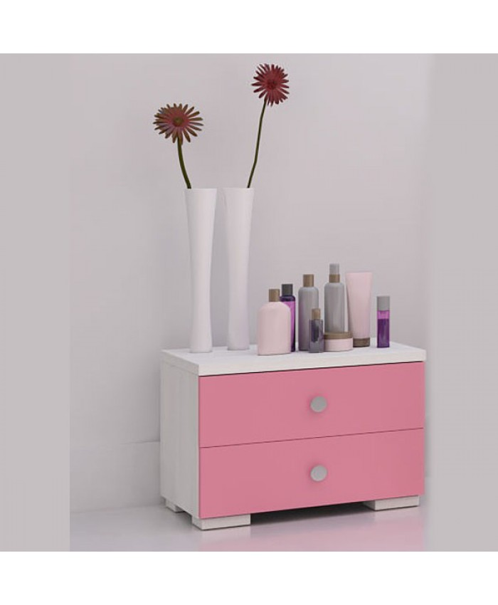 Bedside table 2 drawers 50x40x40cm DIOMMI (25-237)