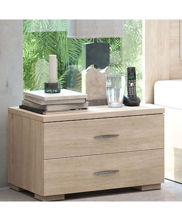 Bedside table 2 drawers 60x40x40cm DIOMMI (25-238)