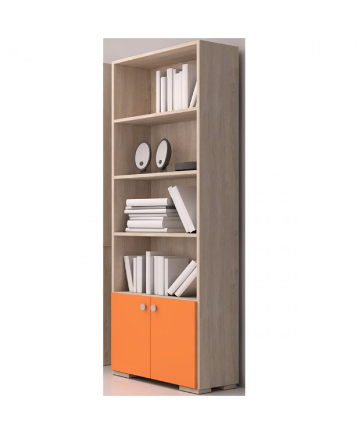 Bookcase ''With Doors'' 60x180x30cm DIOMMI (25-401)