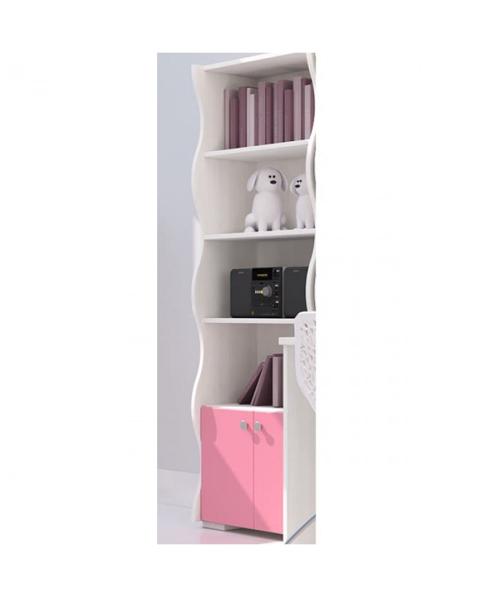 Bookcase WAVE ''With Doors'' 60x180x30cm DIOMMI (25-402)