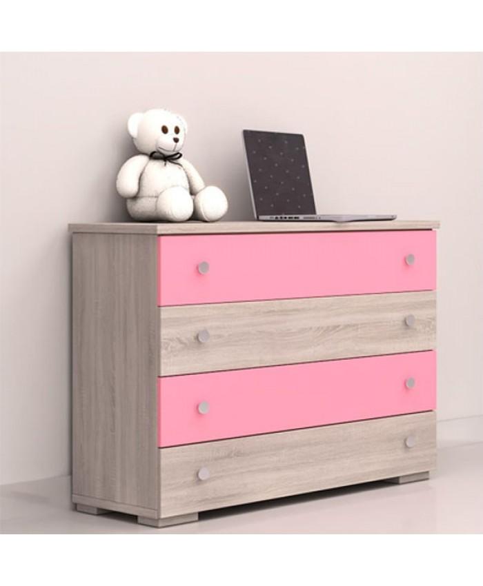 Dresser 4 drawers 90x75x45cm DIOMMI (25-301)