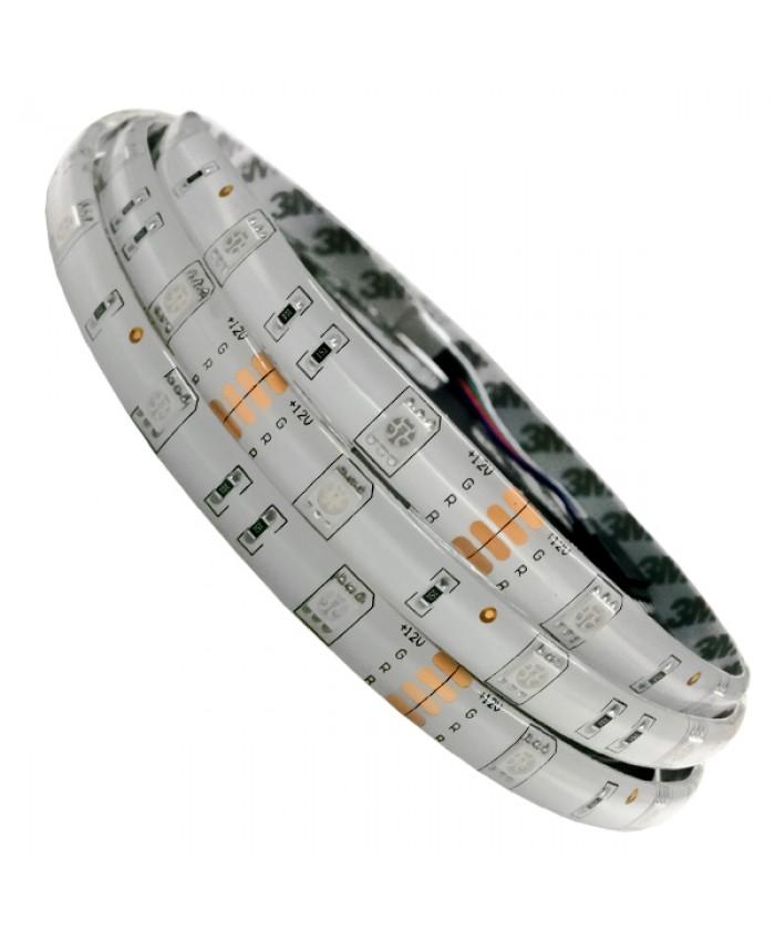 Ταινία LED Λευκή Professional Series 5m 7.2W/m 12V 30LED/m 5050 SMD 350lm/m 120° Αδιάβροχη IP65 RGB Diommi 06250