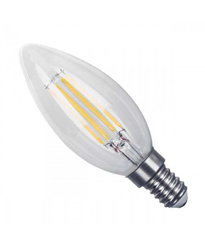 Λάμπα LED E14 Κεράκι C35 4W 230V 400lm 320° Edison Filament Retro Θερμό Λευκό 2700k Dimmable Diommi 44002