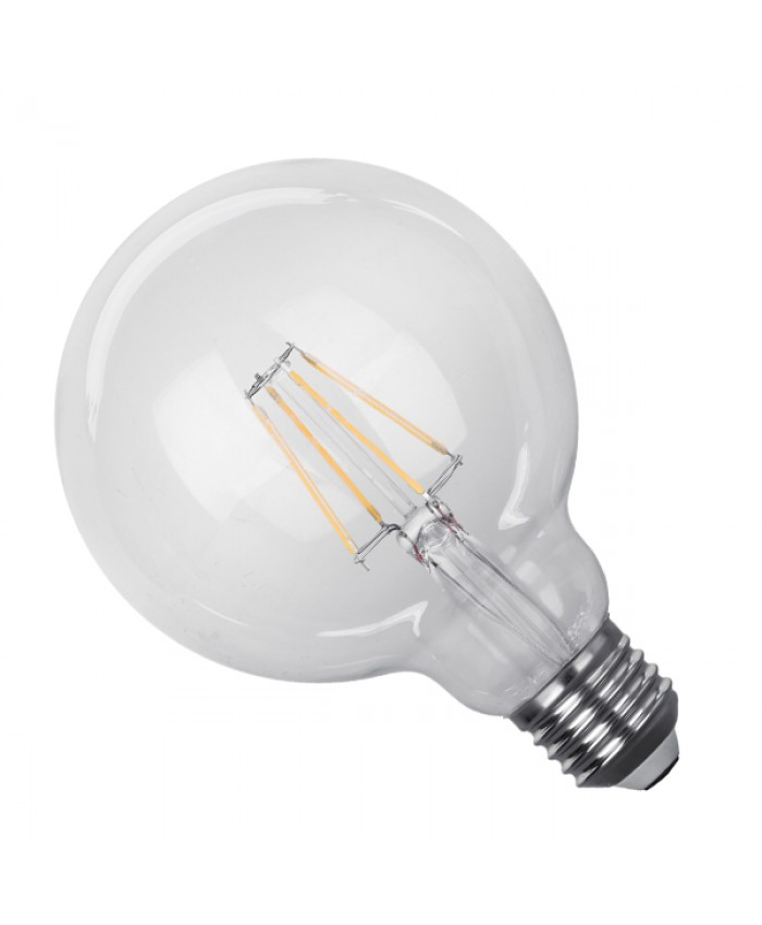 Λάμπα LED E27 G95 Γλόμπος 4W 230V 400lm 320° Edison Filament Retro Θερμό Λευκό 2700k Dimmable Diommi 44012