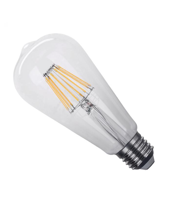 Λάμπα LED E27 ST64 Γλόμπος Αχλάδι 8W 230V 800lm 320° Edison Filament Retro Θερμό Λευκό 2700k Dimmable Diommi 44013