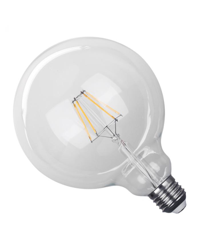 Λάμπα LED E27 G125 Γλόμπος 4W 230V 400lm 320° Edison Filament Retro Θερμό Λευκό 2700k Dimmable Diommi 44016
