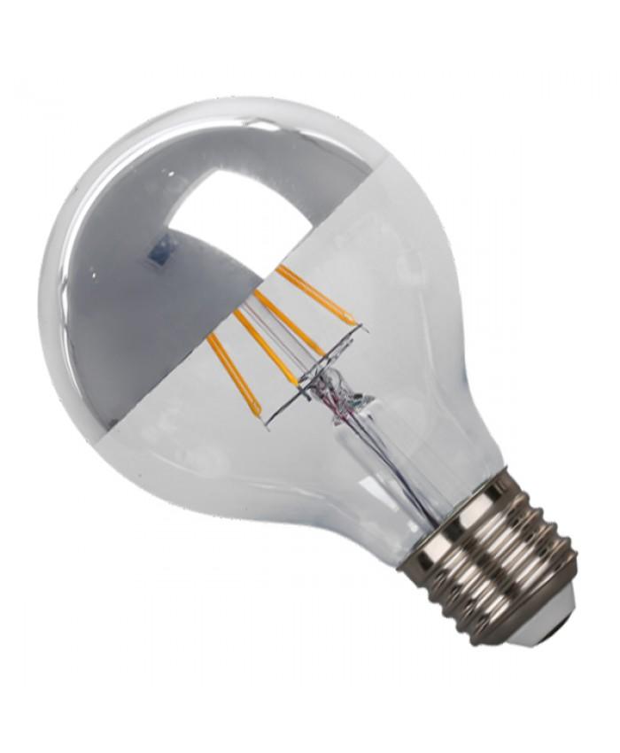 Λάμπα LED E27 G80 Ανεστραμμένου Καθρέπτου 4W 230V 400lm 180° Edison Filament Retro Θερμό Λευκό Ασημί 2700k Dimmable Diommi 44015