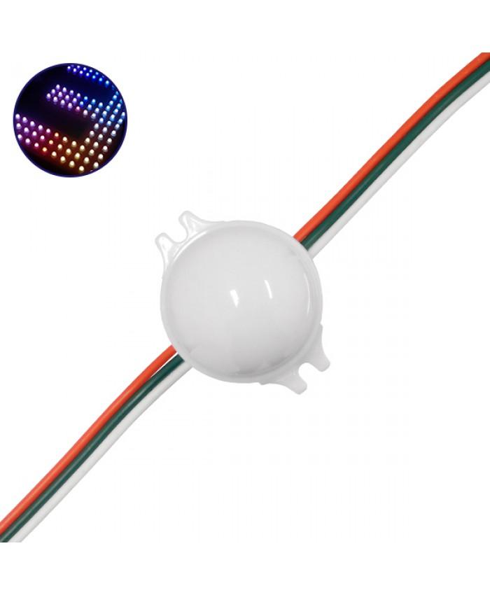 LED Magic Digital Στρογγυλό Module Φ3 CM RGBW 0.72W 12V SET 20 τεμ. Diommi 30544