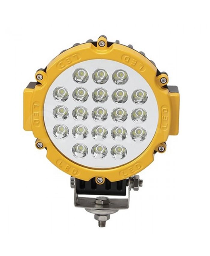 Προβολέας LED Εργασίας Κίτρινος Στρογγυλός 63W 10-30V 8820lm 30° Αδιάβροχος IP65 Ψυχρό Λευκό 6000k Diommi 05189