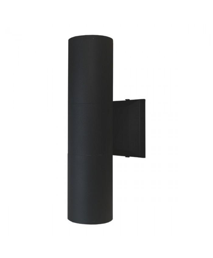 Φωτιστικό Τοίχου Wally Μαύρο Αλουμινίου IP65 Up / Down Gu10 Diommi 90062