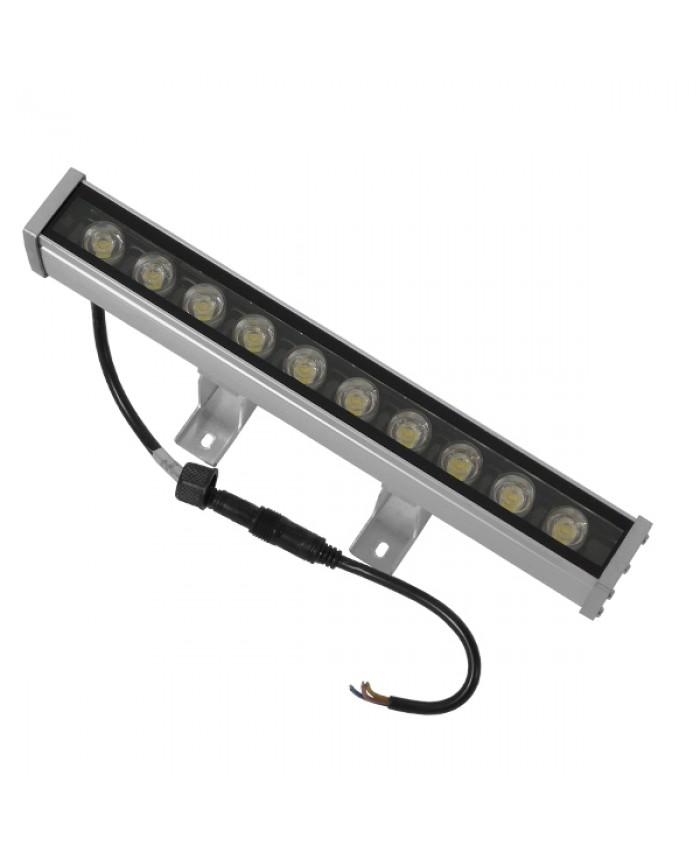 LED Wall Washer 9W 230V 800lm 30° 30cm Αδιάβροχο IP65 Θερμό Λευκό 3000k Diommi 05003
