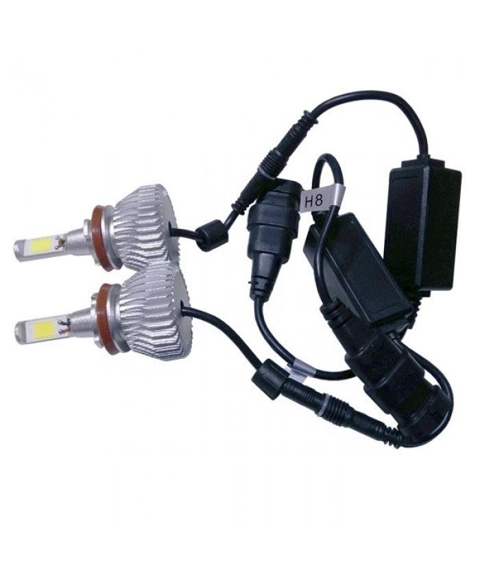 LED HID Kit H9 36 Watt 9-36 Volt DC 3600 Lumen 6000k C6 Economy Line Diommi 06668