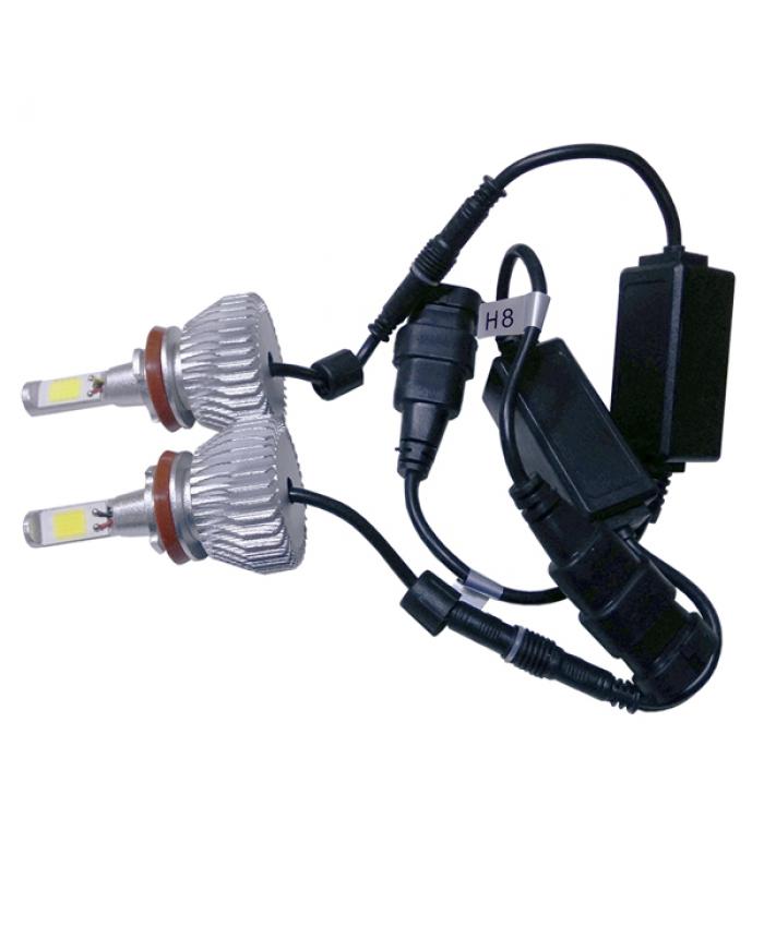 LED HID Kit H16 36 Watt 9-36 Volt DC 3600 Lumen 6000k C6 Economy Line Diommi 06670