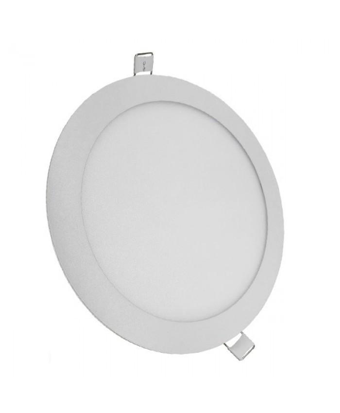 Πάνελ PL LED Οροφής Στρογγυλό Χωνευτό 20W 230v 1820lm 180° Θερμό Λευκό 3000k Diommi 01786