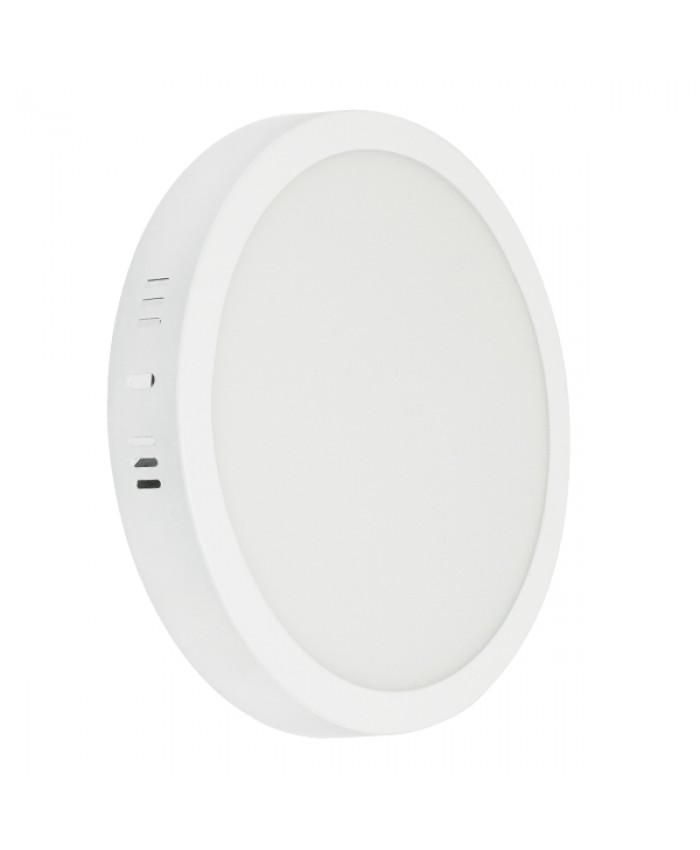 Πάνελ PL LED Οροφής Στρογγυλό Εξωτερικό 20W 230v 1820lm 180° Θερμό Λευκό 3000k Diommi 01789