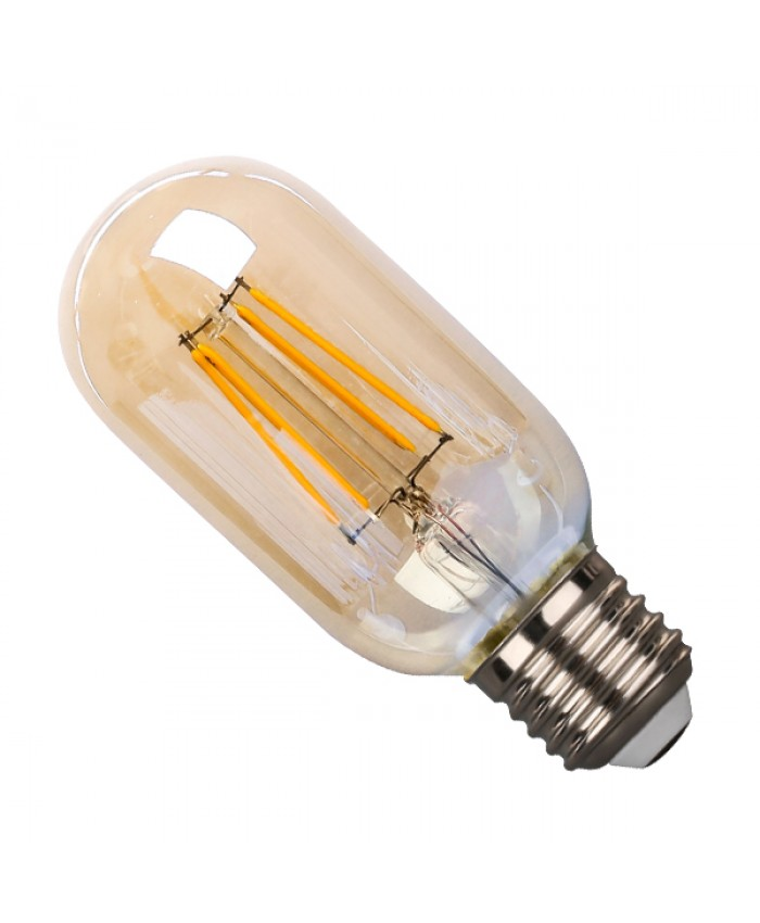 Λάμπα LED E27 T45 Γλόμπος 4W 230V 400lm 320° Edison Filament Retro Θερμό Λευκό Μελί 2200k Dimmable Diommi 44019