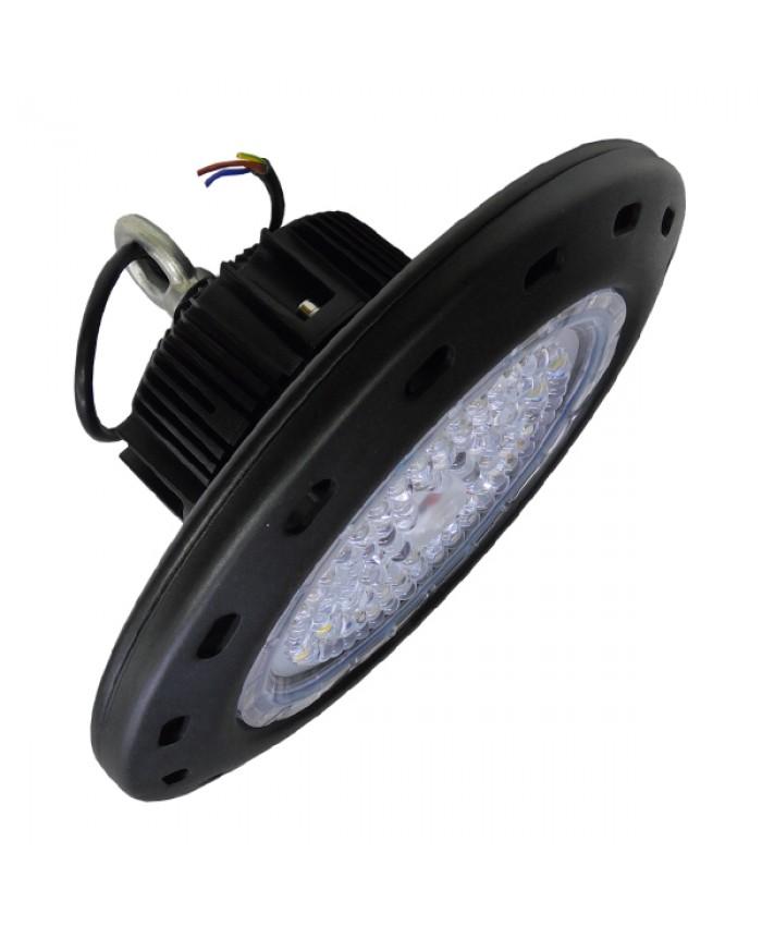 Κρεμαστό Φωτιστικό High Bay Οροφής UFO 100 Watt Ψυχρό Λευκό Diommi 05502