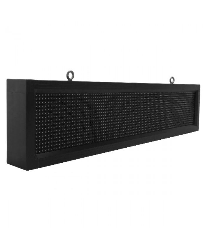 Αδιάβροχη Κυλιόμενη Επιγραφή SMD LED 230V USB & WiFi Λευκή Μονής Όψης 100x20cm Diommi 90108