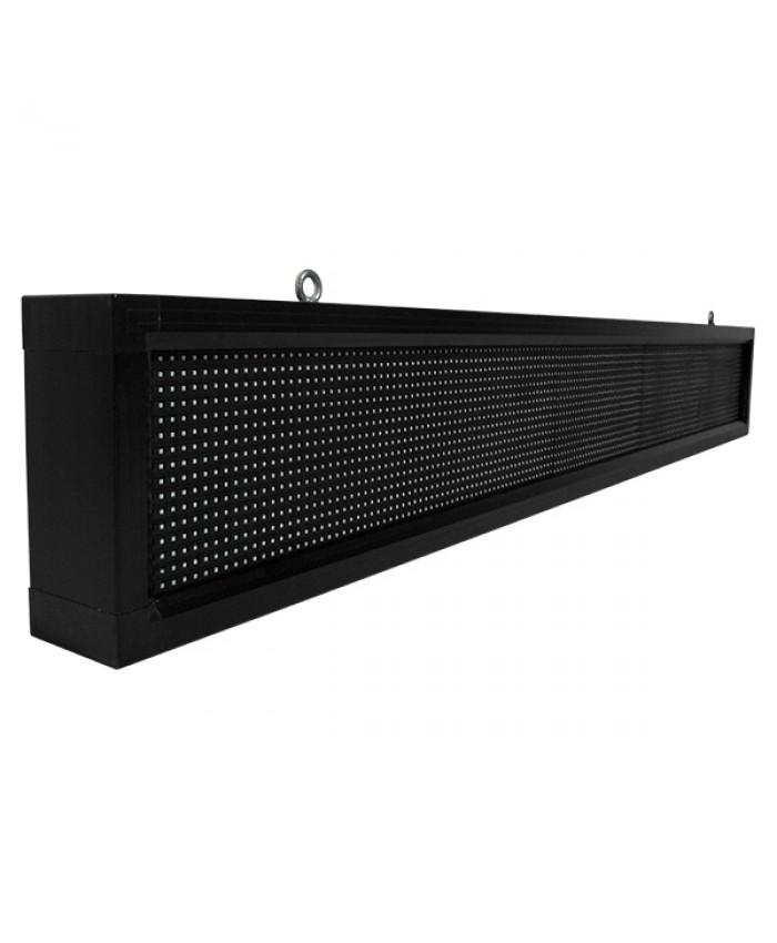 Αδιάβροχη Κυλιόμενη Επιγραφή SMD LED 230V USB & WiFi Λευκή Μονής Όψης 168x20cm Diommi 90109