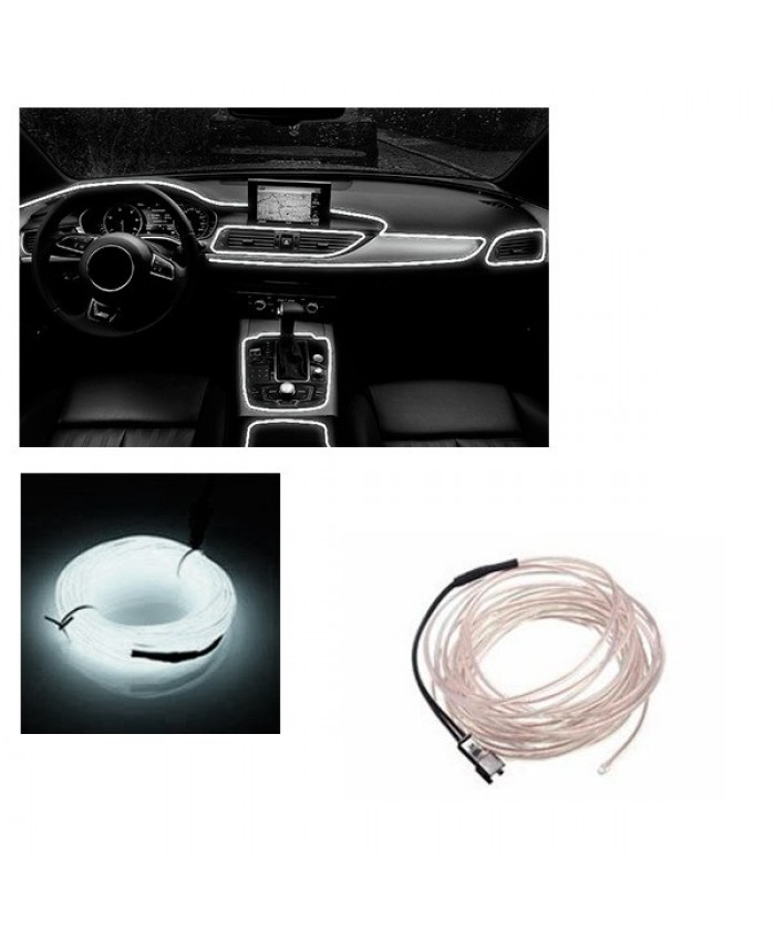 Εύκαμπτο φωτιζόμενο καλώδιο Neon Ψυχρό Λευκό Diommi 08000