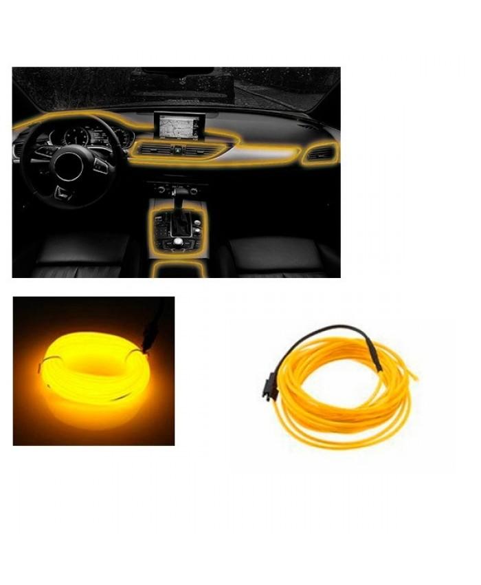Εύκαμπτο φωτιζόμενο καλώδιο Neon Κίτρινο Diommi 08008
