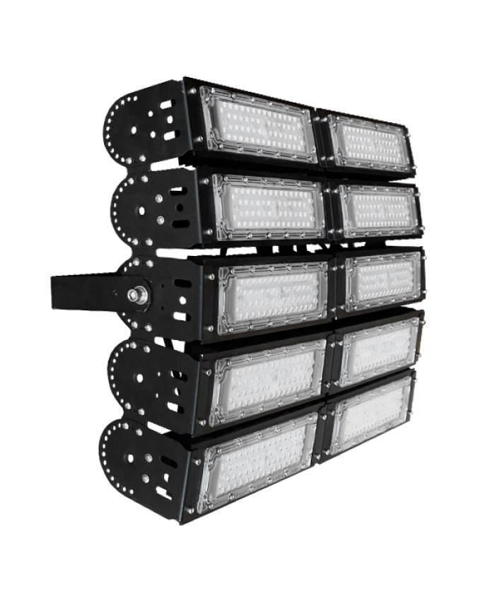 Φωτιστικό Προβολέας Γηπέδων Philips Lumiled LED 500W 230V 70000lm Ρυθμιζόμενες Μοίρες MeanWell Driver Ψυχρό Λευκό 5000k Diommi 03501