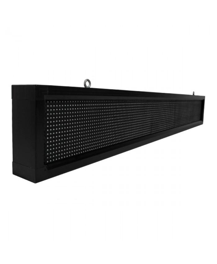 Αδιάβροχη Κυλιόμενη Επιγραφή SMD LED 230V USB & WiFi Κόκκινη Μονής Όψης 168x20cm Diommi 90104