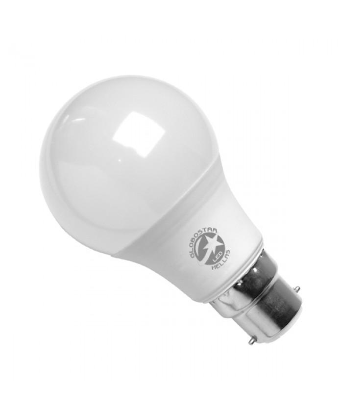 Λάμπα LED B22 A60 Γλόμπος 10W 230V 990lm 260° Ψυχρό Λευκό 6000k Diommi 01682