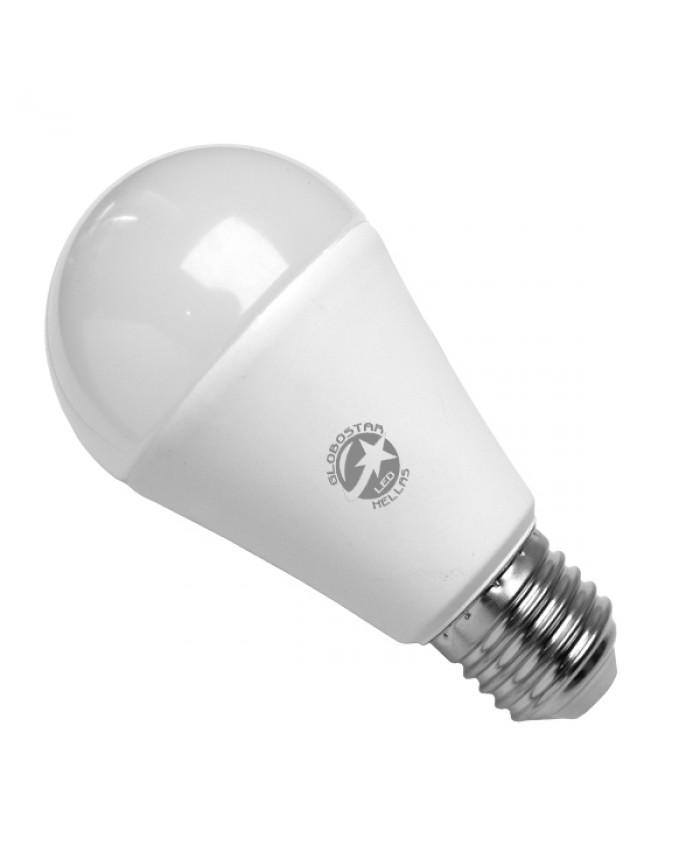 Λάμπα LED E27 A60 Γλόμπος 15W 230V 1450lm 260° Θερμό Λευκό 3000k Diommi 01696