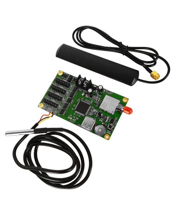 Ασύρματος Controller WiFi ZH-M4X με Είσοδο USB και Αισθητήρα Θερμοκρασίας για RGB Κυλιόμενη Πινακίδα LED Diommi 91107