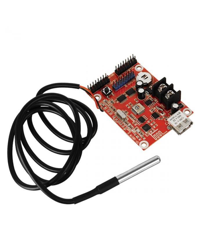 Ασύρματος Controller WiFi TF-SW/TF-S6UW0 με Είσοδο USB και Αισθητήρα Θερμοκρασίας για Μονόχρωμη Κυλιόμενη Πινακίδα LED Diommi 91106