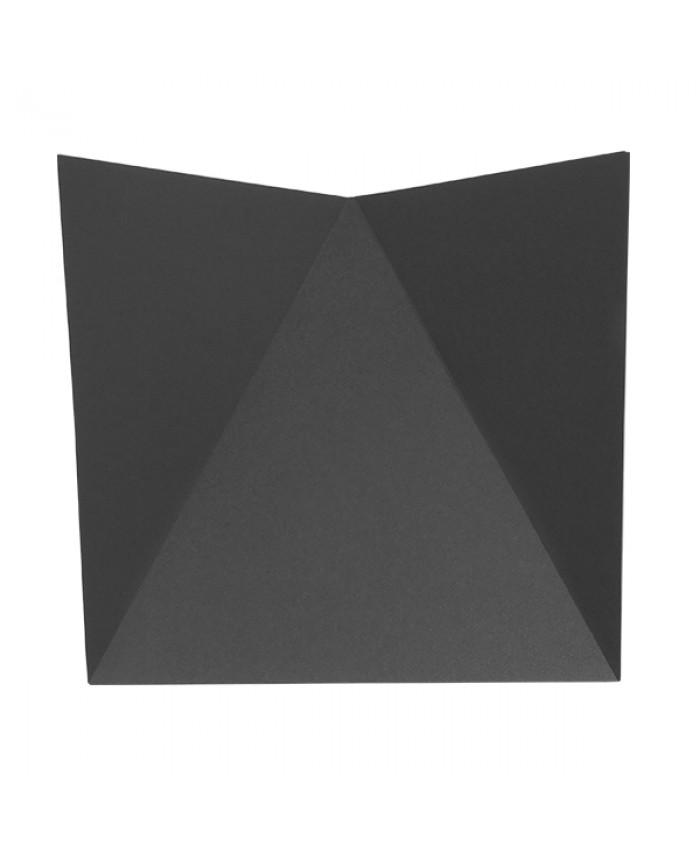 LED Φωτιστικό Τοίχου Απλίκα STEALTH Αρχιτεκτονικού Φωτισμού Γκρι IP65 10 Watt CREE 1000lm 60° 230V Θερμό Λευκό Diommi 96507