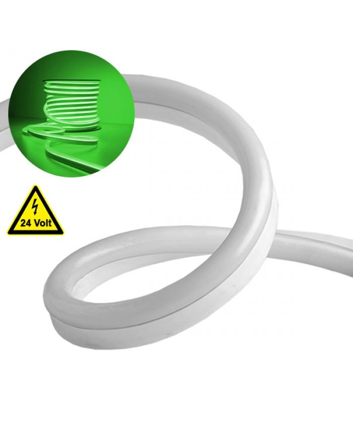 NEON FLEX LED Λευκή 1m 12W/m 24V 120 SMD/m 2835 SMD 450lm/m 120° Αδιάβροχη IP66 Πράσινο Dimmable Diommi 22622