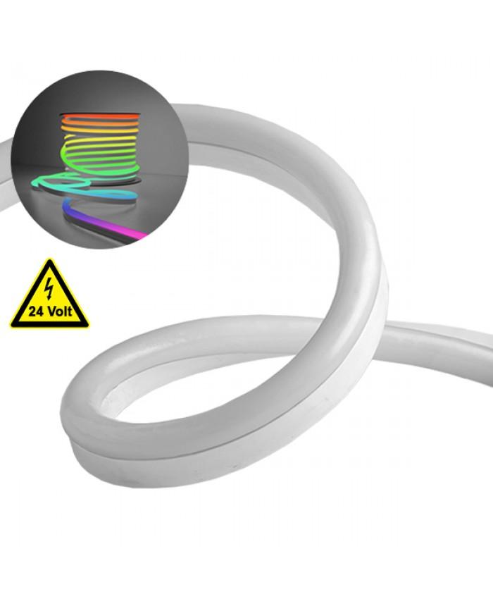 NEON FLEX LED Λευκή 1m 18W/m 24V 120 SMD/m 2835 SMD 450lm/m 120° Αδιάβροχη IP66 RGB Dimmable Diommi 22626