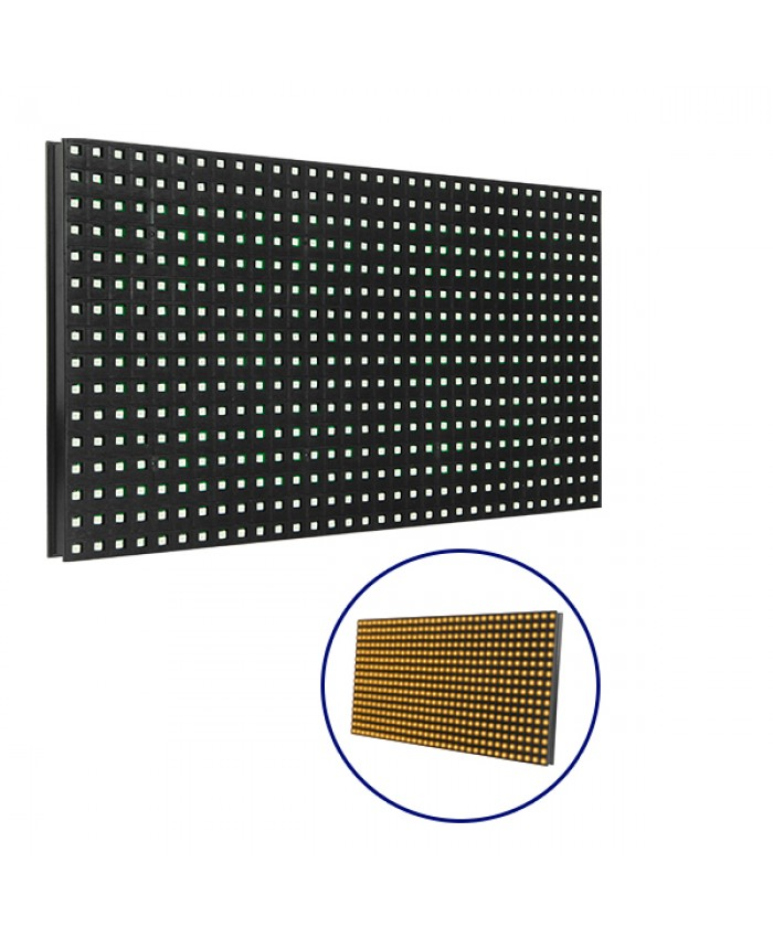 Ανταλλακτικό Panel Module P10 SMD 2835 32x16cm για Κυλιόμενη Πινακίδα LED Πορτοκαλί Αδιάβροχο IP65 Diommi 91104