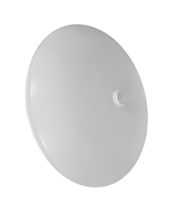 LED Πλαφονιέρα Οροφής 12W 230V 1080lm 180° Αδιάβροχη IP54 με Αισθητήρα Κίνησης Ψυχρό Λευκό 6000k Diommi 77854