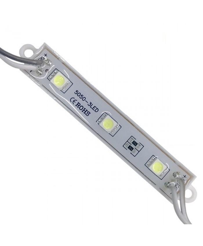 LED Module 3 SMD 5050 0.8W 12V 60lm IP65 Αδιάβροχο Ψυχρό Λευκό 6000k Diommi 65000