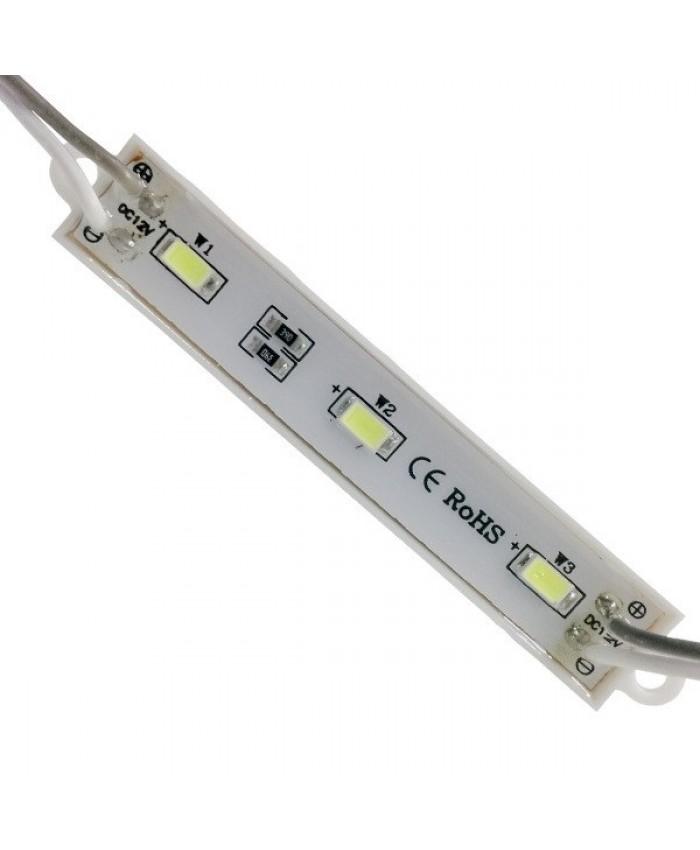 LED Module 3 SMD 5730 Samsung Chip 1.30W 12V Ψυχρό Λευκό 6000k Diommi 65006